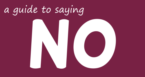 a guide to saying no bish